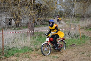 Maria at funny event - 4 hour cross-country for mopeds up to 50 cc